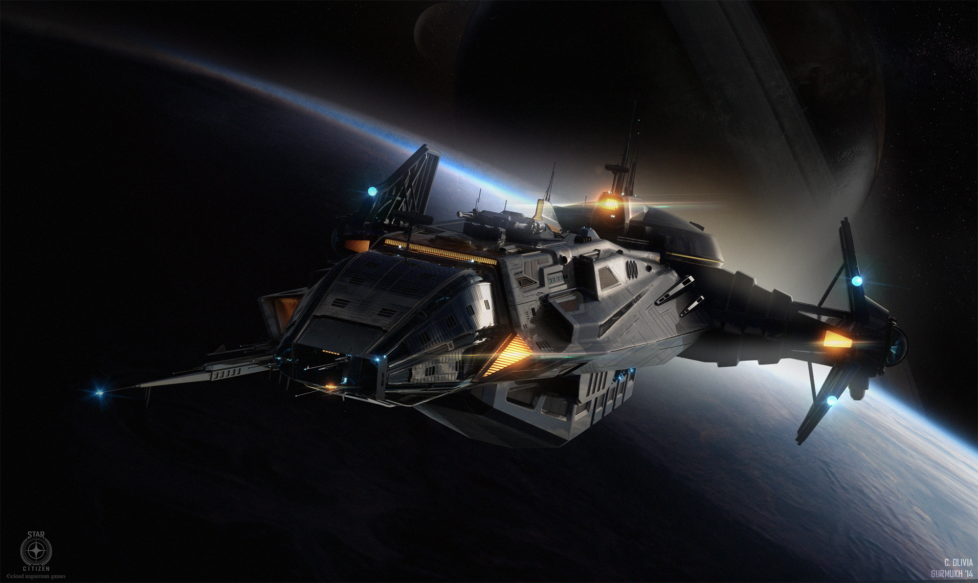 Anvil Carrack in flight