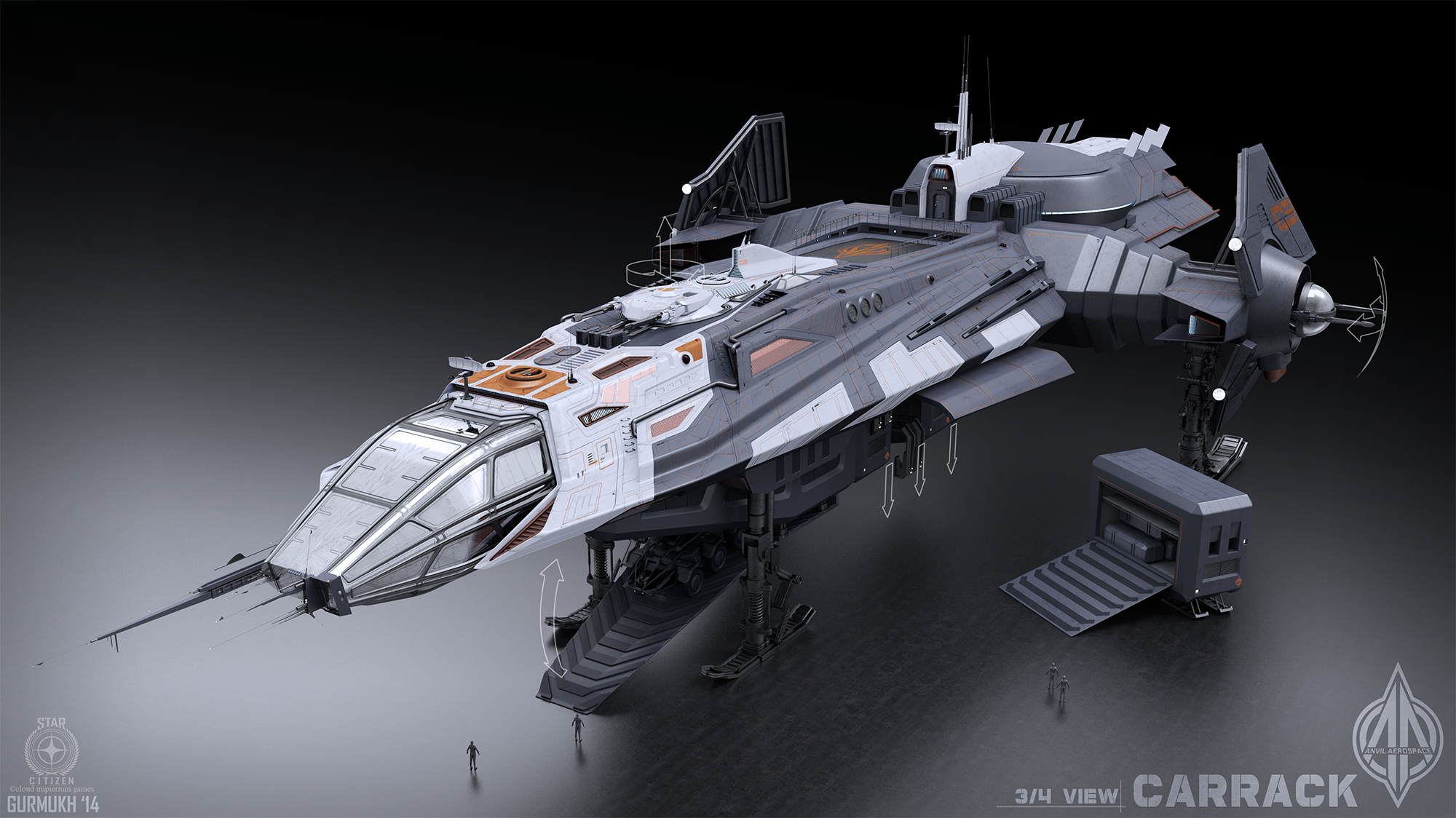 Anvil Carrack concept art